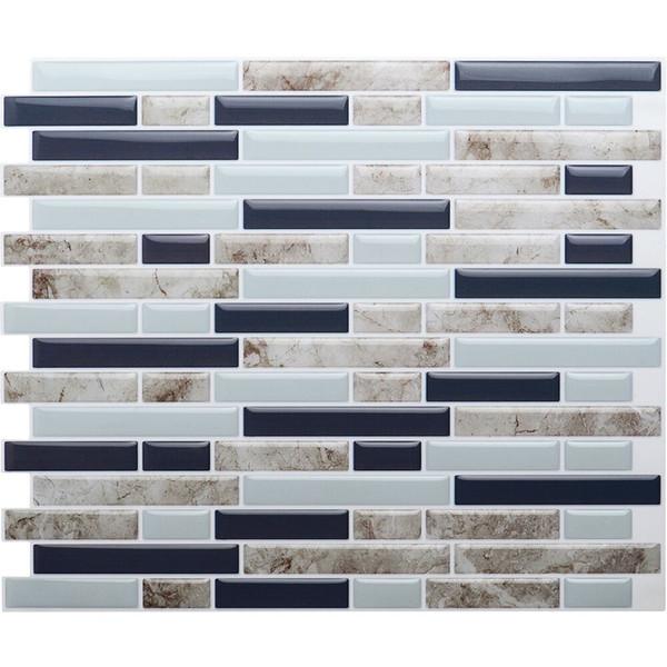 Großhandel Selbstklebende 3D Wand Fliesen Schälen Und Stick Mosaik Fliesen  DIY Küche Badezimmer Home Decor 10,5 X 10, Packung Mit 4 Stück Von ...