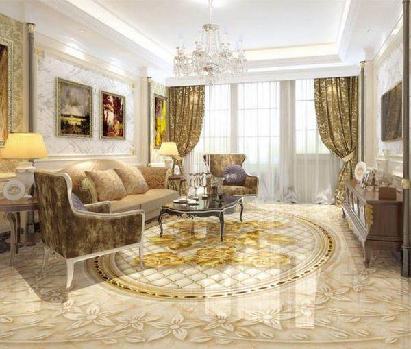 3d pvc flooring waterproof bathroom vinyl wallpaper custom wallpapers Marble embossed gold rose 3d flooring adhesives