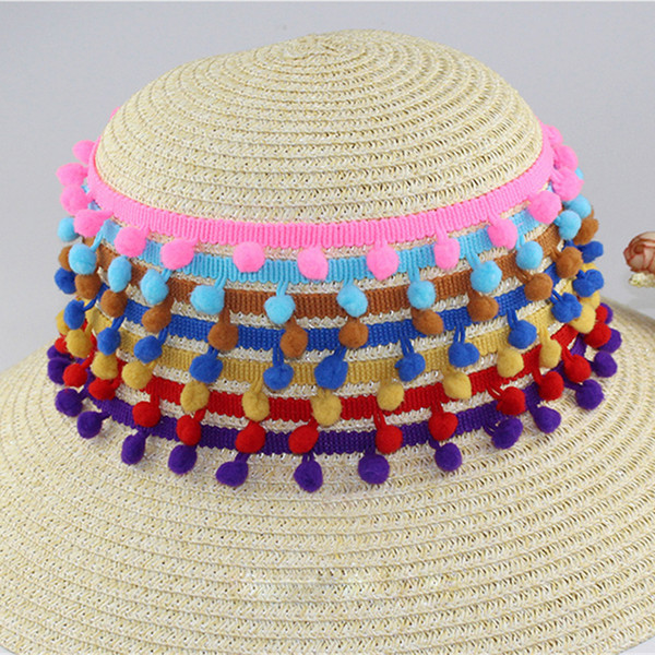 Lace Fabric 5 yard 1cm Sewing Accessories Pompom Trim Decoration Tassel Ball Fringe Ribbon DIY Material Apparel