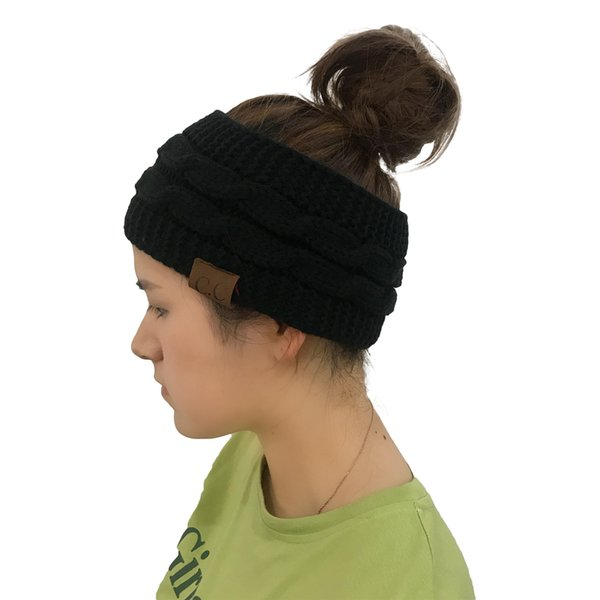 Compre Cc Ganchillo De La Torcedura De Punto Headwrap Winter Warmer ...