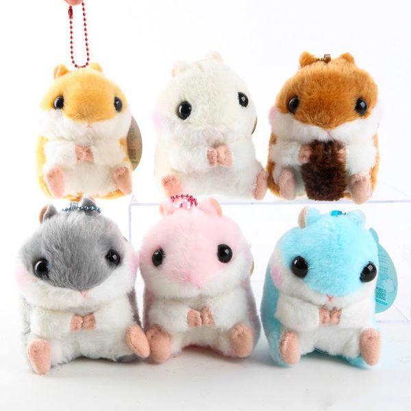 Chaud! 6 Style Hamster Porte-clés En Peluche Poupée Souple Pendentif Jouet Pour Enfant De Vacances Meilleurs Cadeaux 4