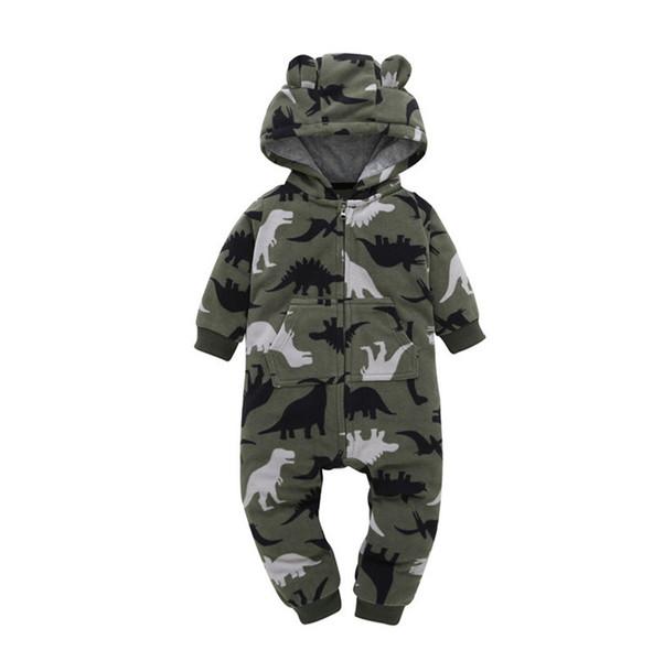 white black Newborn Bebe Jumpsuit baby Rompers Baby Boy Girl print dinosaur Romper Sheep Fleece Infant Babies Clothes Meninas Jumpsuit