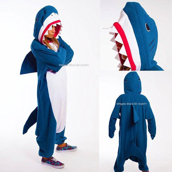 Raffreddare Uomini donne signora adulta pigiama kigurumi onesies squalo cosplay unicorno unicornio bug dinosauro di natale delle coppie di Halloween il costume del fumetto