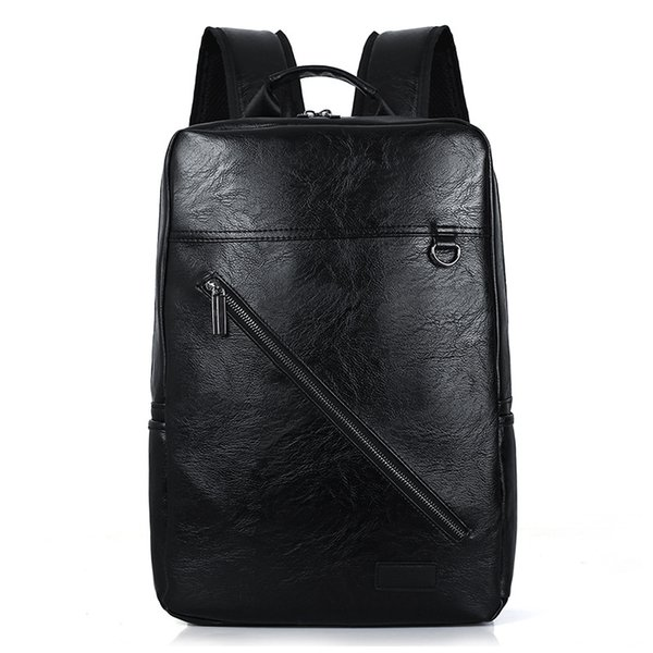 2018 soft pu leather men backpack for college student travel schoolbags business male multifunction backpack laptop bags