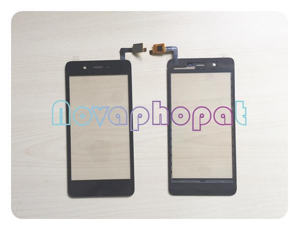 Novaphopat Touchscreen nero per Micromax Q4101 Touch screen digitizer Schermo del sensore Touchpad Sostituzione + tracciamento
