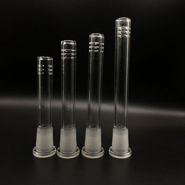 MOQ: 2pcs Glass downstem diffuser/reducer 14mm to 18mm Male Female Joint glass down stem for glass bongs water pipes