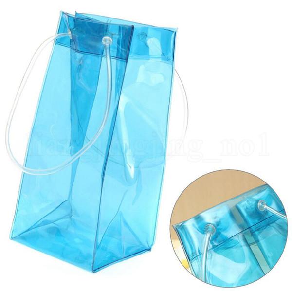 Rapid Ice Wine Cooler PVC Beer Cooler Bag Outdoor Ice Gel Bag Picnic Cool Bags Wine Cooler Chillers Frozen Bags Bottle Coolers OOA5368