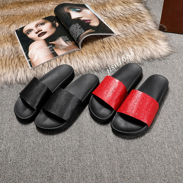 mens and womens fashion signature logo rubber slides sandals summer outdoor beach causal flip flops size euro 35-45