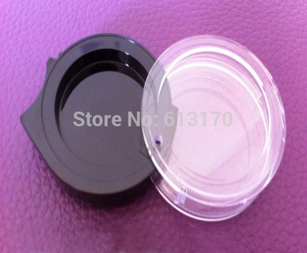 50pcs 2ml cream jar empty plastic eye shadow jar puff cake box accessories nail art box sample jar free shipping