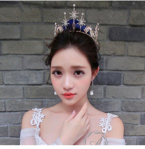 Bridal diamond crown ornaments An crown tiara wedding bridal hair accessories veils designer hats caps men hair accessories for women beach