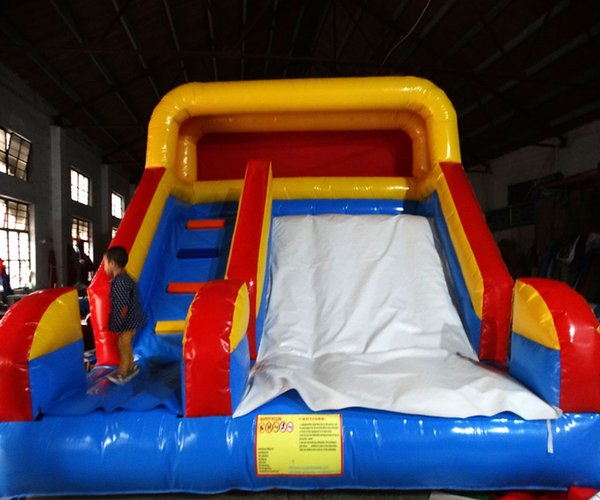 2017 hot sale climbing and inflatable slides with free blower