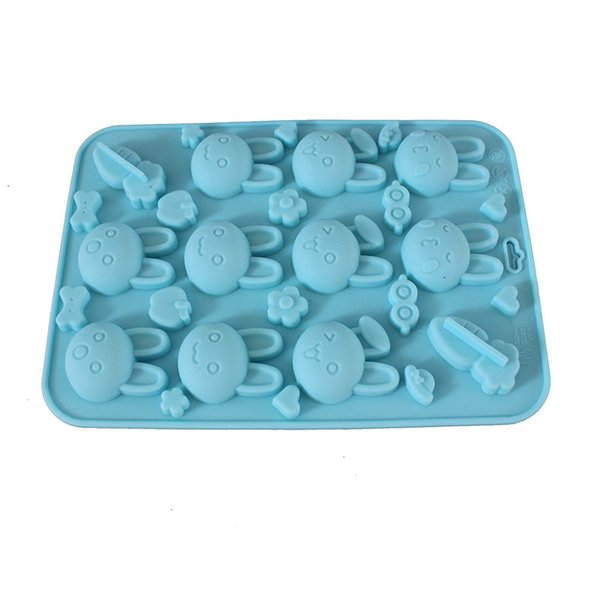 Rabbit Shape Silicone Chocolate, Candy And Gummy Mold - Pasta Maker Soap DIY Mould Jelly Pudding Molds Kitchen Gadget