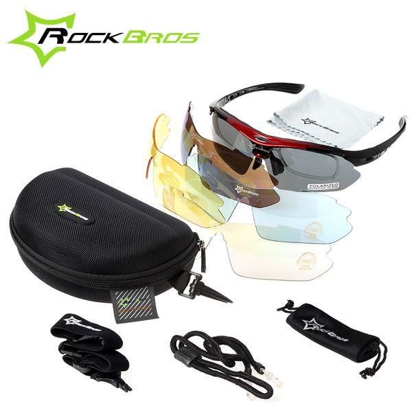 ROCKBROS Cycling Sunglasses Women Men Bicycle Bike Glasses 5 Lens Sport Polarized UV400 Proof Eyewear Oculos Gafas Ciclismo