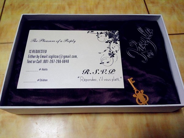 Superior customized white Wedding invitations RSVP,white invites RSVP card with black text (white box not included)(L165mmxW114mm)BL-181051
