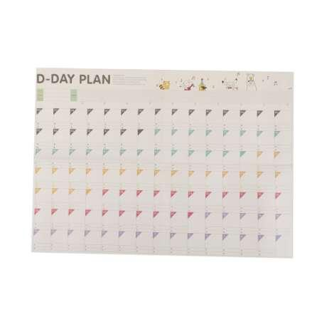 best selling 1pc Study Planning 100 Day Countdown Calendar Learning Schedule Periodic Planner Table Gift Office School Supplies