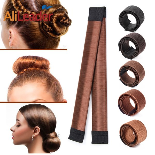 7colors 1pc Pcs Women Girls Magic Hair Styling Donut Bun Maker Elastic Hairband Donuts Chignon Magique Magic Styling Hair Tools