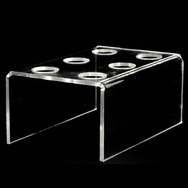 6 -Hole Acrylic Clear Cupcake Ice Cream Cone Display Holder Bakeware Stands Cake Shelf Wedding Birthday Party Decorating