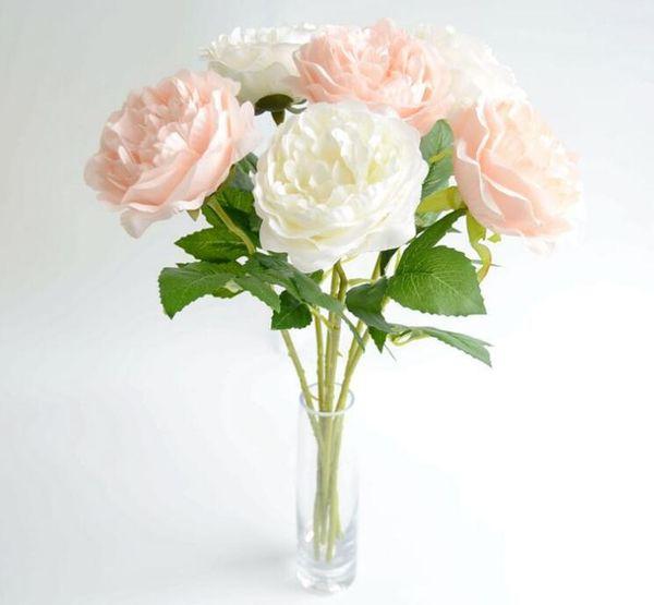 Düğün için ipek çiçekler yapay çiçek düğün buket gül dahlias güz canlı canlı yaprak düğün çiçek gelin buketleri dekorasyon 50 * 1