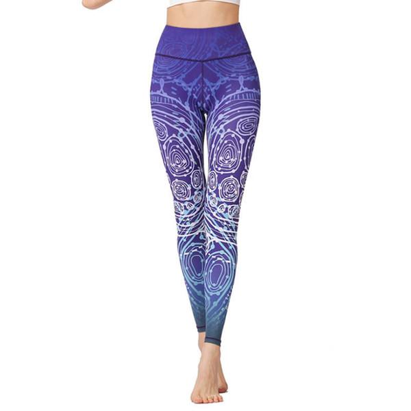 Европа и Соединенные Штаты Америки весна и лето Новый йога девять брюки Женские спорта на открытом воздухе фитнес брюки печатных танец йога