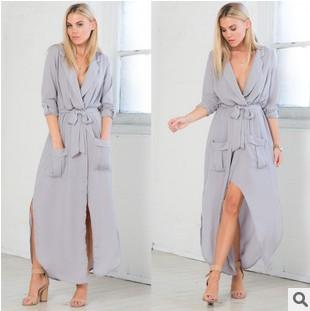 Womens clothing ladies print vintage shirt maxi long casual Dress Formal Prom Cocktail Ball Evening Party dress plus big size S-XL Dress 283