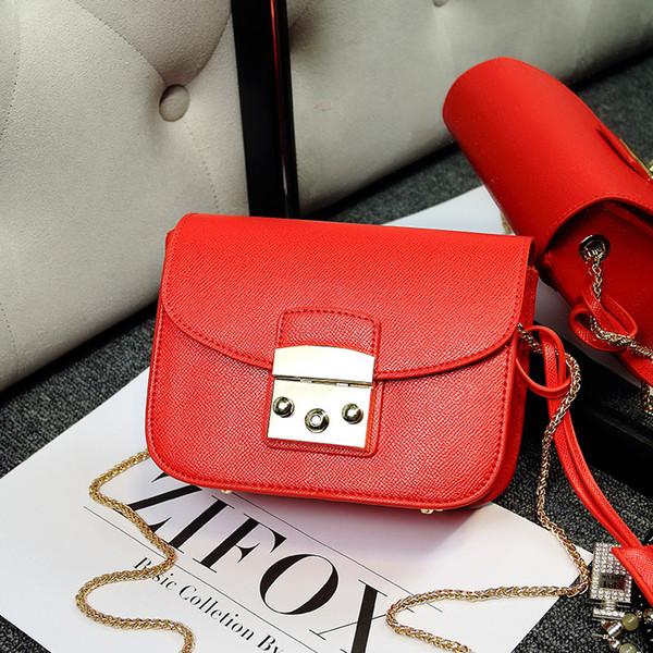 2018 Estrelas com mini mini saco saco de cadeia pequena de couro
