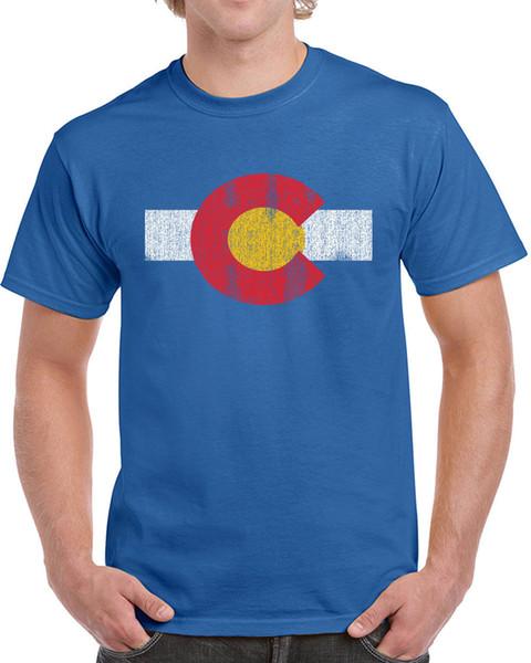 Denver Colorado flag T-Shirt White Shirt