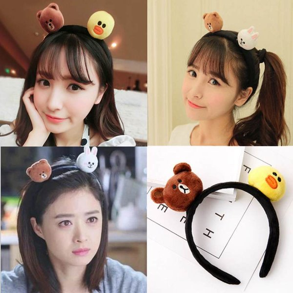 kids baby child girls and Mom Cute little rabbit bear headwrap hair bands Small yellow duck elastic ribbon headband Accessories