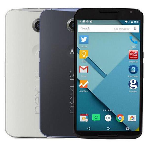 Refurbished Original Motorola MOTO Nexus 6 XT1100 XT1103 6.0 inch Quad Core 3GB RAM 32GB 64GB ROM 13MP 4G Android Mobile Phone Free DHL 1PC