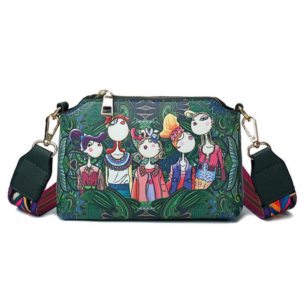 Bags for Women 2018 Crossbody Bags Forest Green Shoulder Bag Mini Message Bag Sac a Main Femme De Marque Luxe Cuir 2018