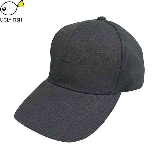 Black Adult Unisex Casual Solid Adjustable Baseball Caps Snapback Hats For Men Baseball Cap Women Men White Baseball Cap