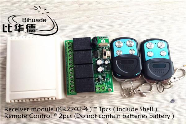 315mhz Universal Remote Control Switch 12v 4ch Relay Receiver Module e telecomando Rf Telecomandi