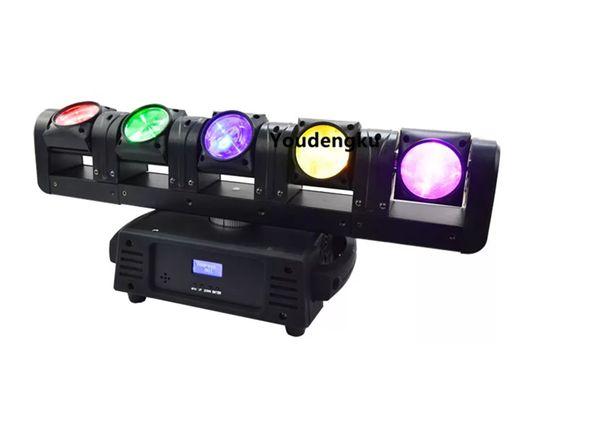 best selling 5*12w rgbw 4in1 quad LED array beam moving head bar Club lighting 5 eyes pixel sweeper beam led moving head
