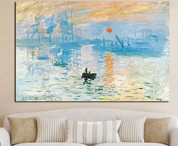HD Print Impression Sunrise Landscape Oil Painting on Canvas Art Wall Picture Canvas