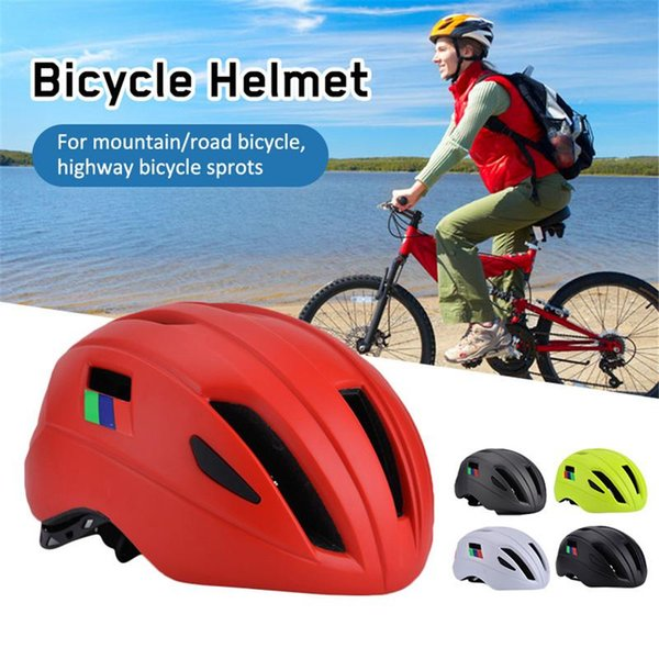 Bicycle Helmet For Men Ultralight EPS+PC Cover Road Bike Helmet Integrally-Mold Cycling Cycling Protected Safe Hat