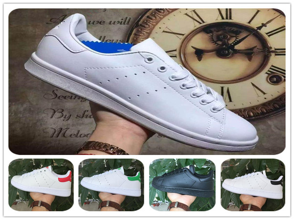 the best attitude 53f53 c7d54 2018 Hot Sale Raf Simons Stan Smith Shoes Leather Running Shoe Woman Green  Sneakers Men Women Fashion Classic Casual Sports Shoes Size 36 46 Sports ...