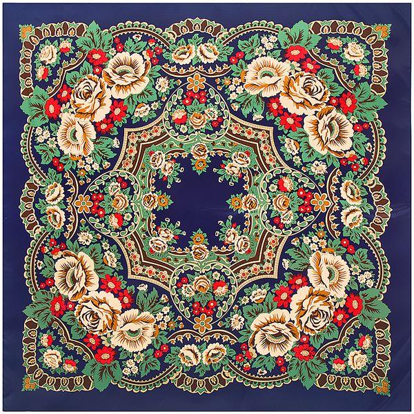 Big Square Twill Silk Scarf Bohemia Ethnic Flowers Vintage Style Winter Autumn Muslim Woman Lady Scarf 130*130CM