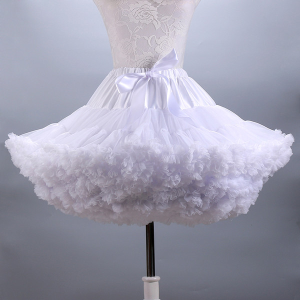top popular Fluffy Women's Tutu Skirt Adult Tulle Short Petticoat with Ruffles 12 Colors S916 2021