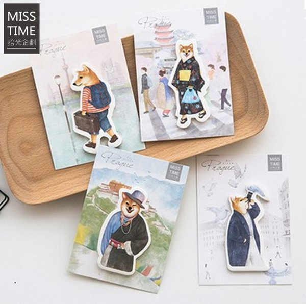 MISS TIME dream dog notepad paper sticky message note Memo pad Wholesale