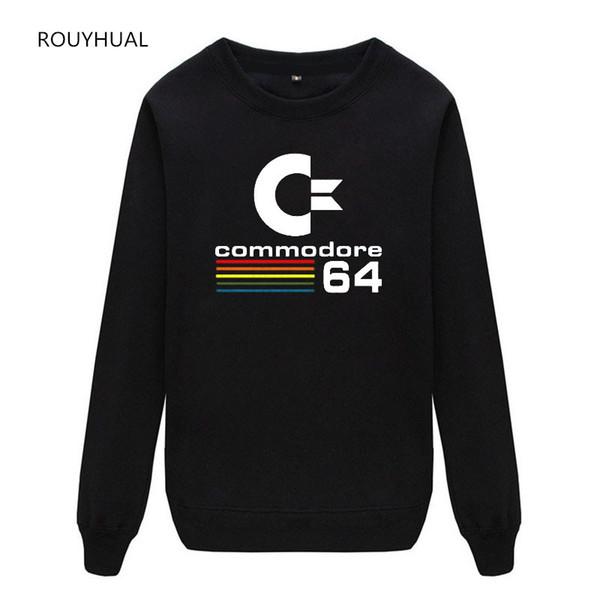 Sonbahar commodore Moda katı Yeni casual Erkek Streetwear uzun kollu Hoodies Erkek kazak Tişörtü artı sizeM-3XL