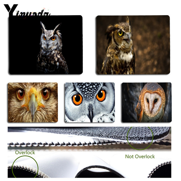 Yinuoda Boy Gift Pad Cool Owl Laptop Computer Mousepad Size for 180x220x2mm and 250x290x2mm Rubber Mousemats