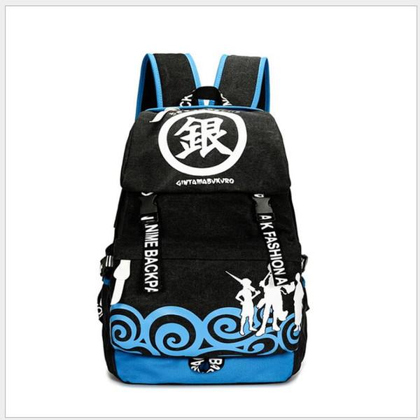 Японский мультфильм GINTAMA Sakata Gintoki косплей аниме рюкзак Shimura Shinpachi печать рюкзак дорожные сумки для ноутбука