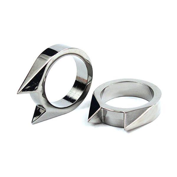32 * 26 * 7mm 1 pz New Spikes knuckle Cat Ear forma anello pendente all'aperto di sopravvivenza Tactical Self-