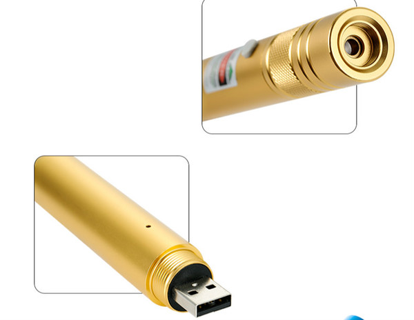 USB Laser Pointer Flashlight Shape Big Portable Laser Lazer Pointer 50000m with Caps Powerful for Professional buyers