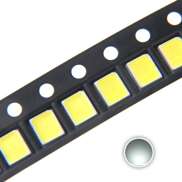 100 pcs 2835 White SMD LED Diode Lights High Intensity Super Bright Lighting Bulb Lamps Electronics Components Light Emitting Diodes