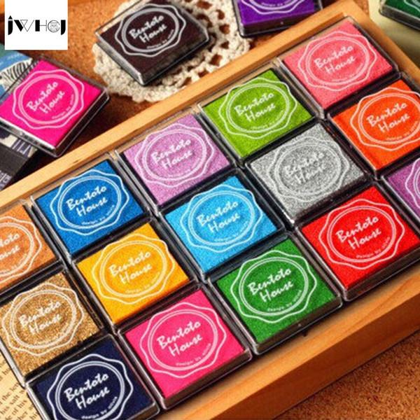 20pcs/set colorful 4X4cm square stamp inkpad set Kids toy DIY Handmade Scrapbook Photo Album student Stamp Arts,Craft gift