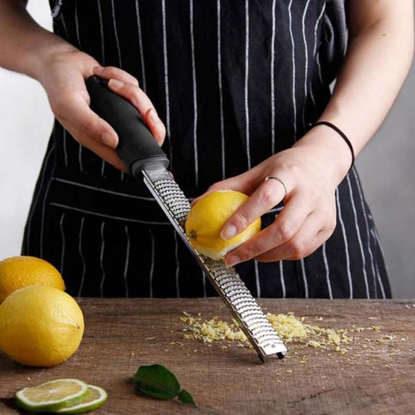 top popular 12 Inch Rectangle Stainless Steel Cheese Grater Tools Chocolate Lemon Zester Fruit Peeler Kitchen Gadgets Hogard LZ1140 2019