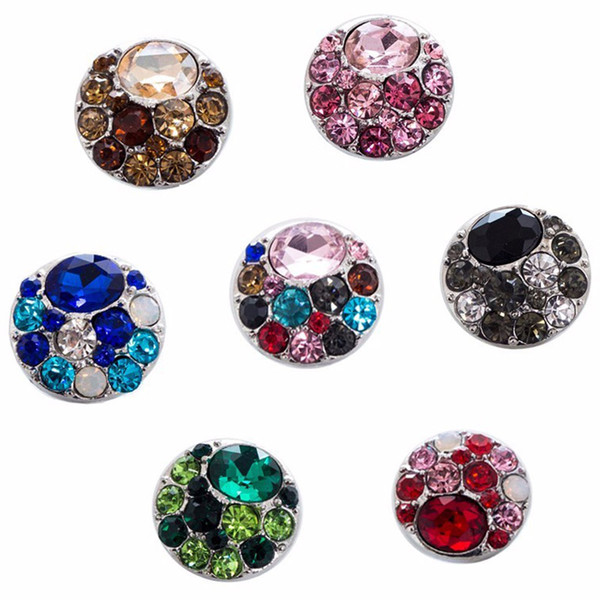 10Pcs 2018 Newest Design High Quality Rhinestones Snap Button Bracelet For Women Fit 18mm Snap Button Jewelry