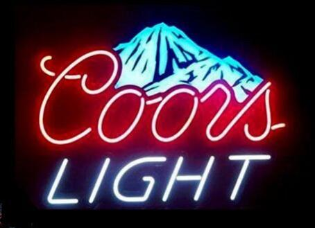 """New Coors Light Snow Mountain beer Real Glass Neon Sign light Beer Bar Sign Send need photo 19x15"""""""