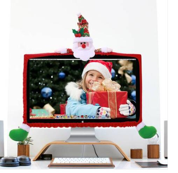 Sales!!! Wholesales Free shipping Christmas computer Display decoration Christmas ribbon decoration