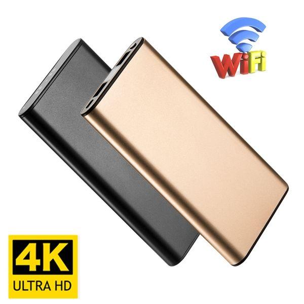 4 Karat Wifi Mini Kamera HD Mini Überwachungskameras Nachtsicht Bewegungserkennung Sicherheit Cam 10000 mAh Energienbank Kamera für Home Office Auto